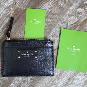NWT Kate Spade Black Card and Coin Holder